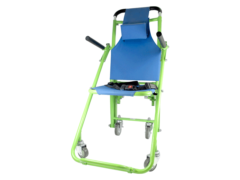 Evacuation Chair Standard Model folded into place, ready for use