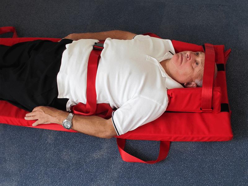 Patient Strapped into Premium Plus Evacuslider