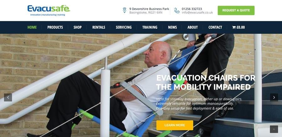 Evacusafe Launch Ultra-Modern Responsive Website