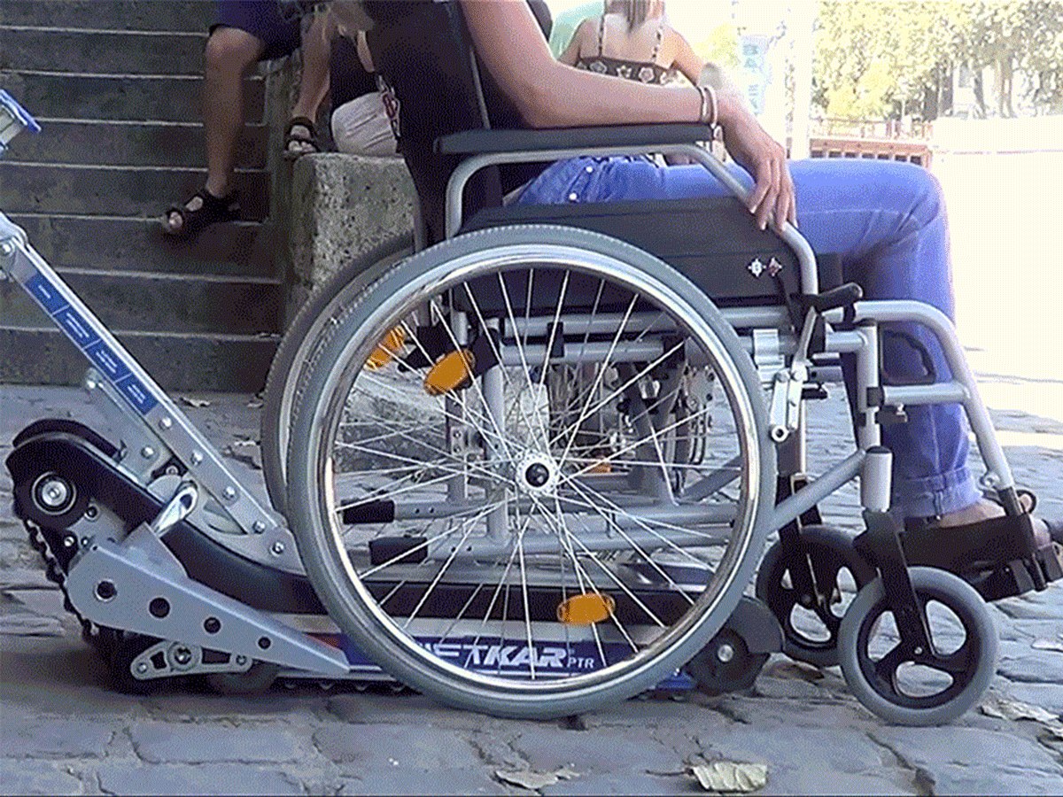 Powered Stair Climber, for wheelchair users