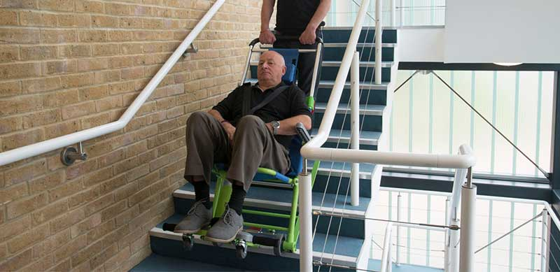 tracked-evac-chair-in-use-on-stairs