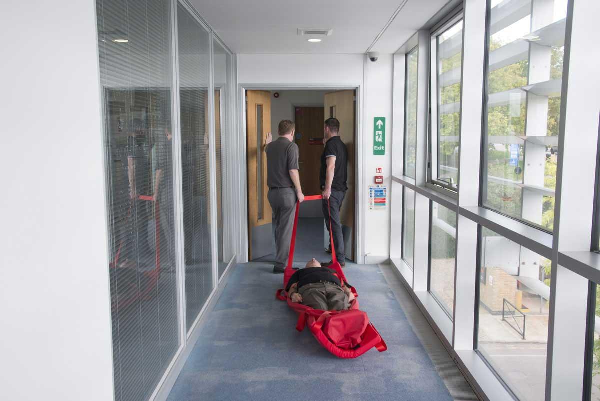 evacuslider-being-pulled-along-floor